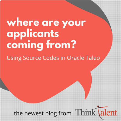 Source Tracking in Oracle Taleo
